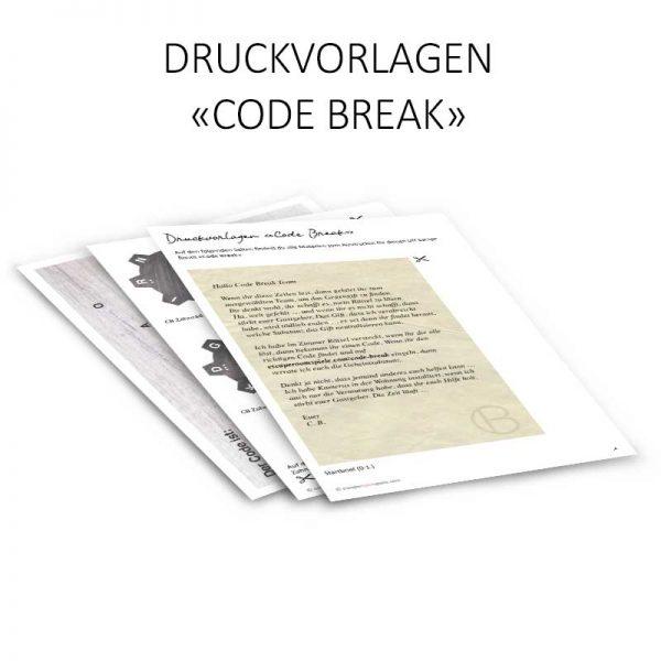 Code Break Druckvorlagen