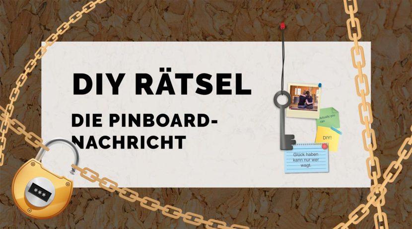 Monatsrätsel Pinboard Nachricht